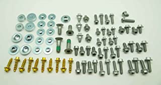 97pc SPECBOLT 车身螺栓套件,适用于塑料座挡泥板护罩和子框架。适合 KTM & Husqvarna 65 80 85 125 150 200 250 350 400 450 500 520 525 SX SX-F XCXC -F X...