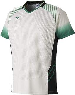 [Mizuno 美津浓] 羽毛球服 运动衫 短袖 标准 动作贴合 吸汗速干 软式网球 羽毛球 72MA9002