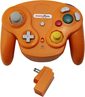 Wavebird 风格无线控制器,适用于 Gamecube 任天堂 Wii 马里奥复古 - 橙色