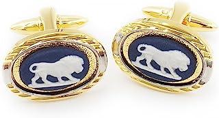 Wedgwood Jasperware 袖扣 - 波特兰蓝色带狮子