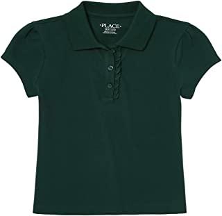 The Children's Place 女童制服褶皱珠地布 Polo 衫