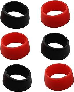 LQ Industrial Seatpost 防尘罩 6 件 25-30 毫米山地自行车座椅柱橡胶环防尘罩黑色和红色自行车硅胶防水保护