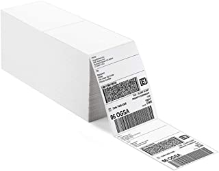 Shop4Mailers 4x6 Fanfold 直接热白色粘合穿孔邮寄标签(3000 件装)