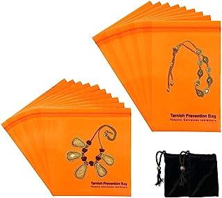 A-ONE 防褪色 VCI 拉链袋,氧化防拉链锁储物袋,4 英寸 X 6 英寸(10 个),6 英寸 X 6 英寸(15.24 厘米 X 15.24 厘米(10 个)+天鹅绒袋(无防变色功能)2 件