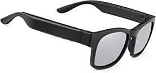 智能音频太阳镜偏光镜片 UV400 开放式耳塞蓝牙太阳镜扬声器聆听音乐拨打电话(A12Pro-银色)