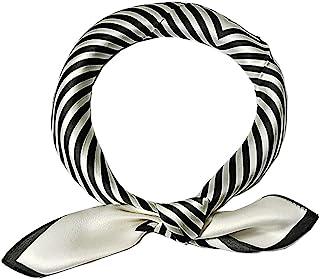 Abangdun* 丝绸围巾女士轻盈光滑方形小丝绸围巾 21 英寸 x 21 英寸 /53x53 厘米