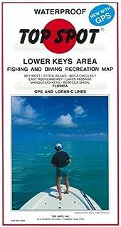 Top Spot N209 地图 - 下部钥匙区域西至雷斯科的钥匙鞋 LORAN-C &