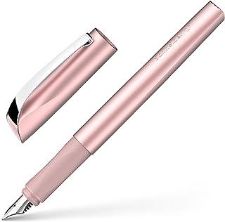 Schneider 施耐德 Ceod Shiny 钢笔 (右手和左手,M 笔尖,包括宝蓝色墨盒)粉色