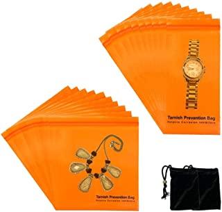 A-ONE 氧化预防拉链锁存储 VCI 袋,防锈袋带可密封锁密封拉链,8.1 厘米 X 15.2 厘米(10 件),15.2 厘米 X 15.2 厘米(10 件)+天鹅绒袋(无防变色功能)2 件