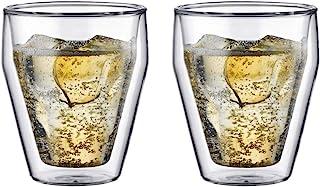 Bodum Torst 2-Piece 8-Ounce Double Wall Glass, Small, Clear