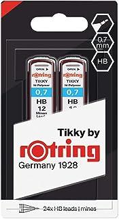 Rotring 红环 Hi-Polymer 替换笔芯 用于精细机械铅笔 0.50 毫米 HB 2 × 12 笔芯 Hi-Polymer HB x2 0.70 mm