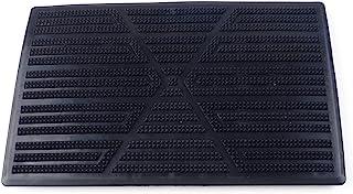 Beler 25CM x 16CM 黑色 PVC 塑料车地毯垫脚跟脚垫踏板贴套 黑色 SHE3087