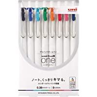 Uni Uni-Ball One 中性笔,0.38mm圆珠笔,8种颜色(UMNS388C)