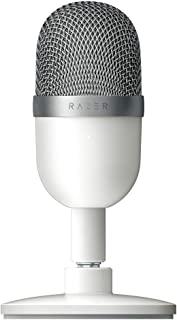 Razer 雷蛇 Seiren Mini (Mercury) - USB 电容式麦克风,适用于流媒体(小巧,具有锁定方向,可倾斜支架,内置减震)白色
