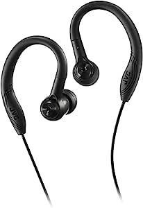 JVC 耳塞运动耳塞式耳机夹黑色 (HAEC10B) (HA-EC10B)