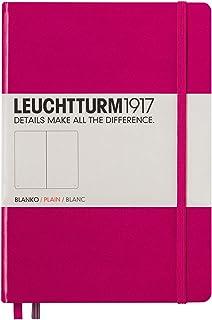 LEUCHTTURM1917 灯塔中开无格笔记本玫红硬封皮(A5)
