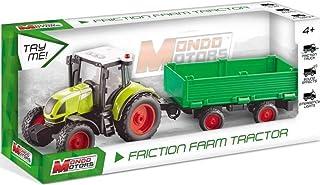 Mondo -51180 工作车辆 发动机 - Friction Farm 拖拉机拖拉机拖拉机 - 儿童背运 - 尺寸 40 厘米 - 拖拉机带拖车 - 51180,多色,51180