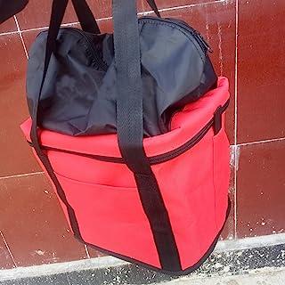 Amuahua 自行车篮,小型宠物猫狗背篮 - 折叠可拆卸可拆卸易安装快速释放野餐购物袋,适合直径22 – 31.8毫米的 车把