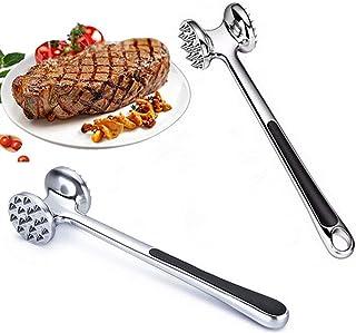 Lheng 肉类嫩肉器 重型锤子工具和鸡肉捣碎器 黑色
