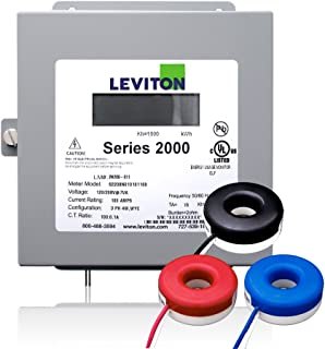 Leviton 系列 2000 480V 3P4W 100A 室内套件,带 3 个实心 CT 200-Amp 2K208-2SW