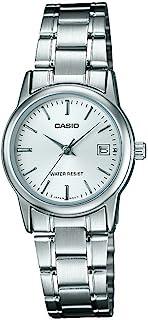 Casio 卡西欧 女式 LTPV002D-7A 银色不锈钢石英手表