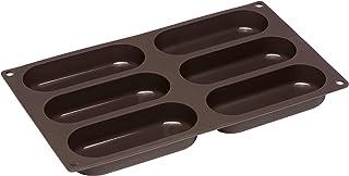 Lurch 85082 FlexiForm 热狗面包 硅胶烘焙模具,6层,硅胶,棕色,3 x 30 x 17厘米