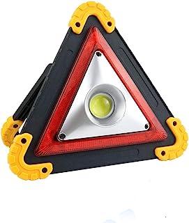 Liskan 三角形 LED 泛光灯带 1 个 COB 芯片 紧急警告,移动电源,4 种照明模式 USB 充电端口可充电,便携式 LED 工作灯探照灯露营*反光灯,汽车