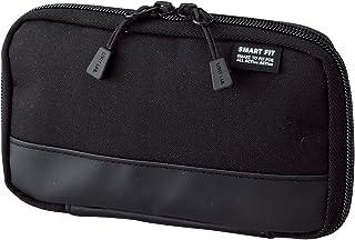 LIHIT LAB. 喜利 smart fit 學生筆袋 便攜式文具盒收納包A-7687商務收納袋 #24黑色