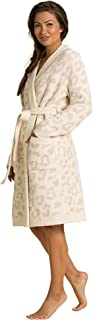Barefoot Dreams CozyChic Barefoot in The Wild Robe 奶油色/石色 LG (US 12-14)
