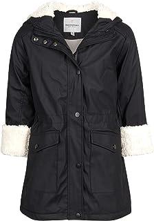 Urban Republic 女童连帽防雨夹克,带毛皮衬里
