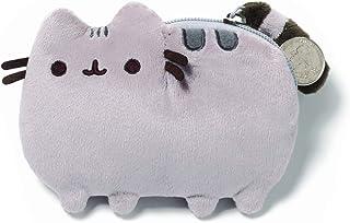GUND Pusheenicorn Pusheen 独角兽猫毛绒填充动物零钱包 经典灰色 Size 灰色,黑色