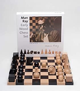 K&M Classics,Man Ray,象棋设计,棋盘人物,高品质,山毛榉木,德国制造,40 x 40 x 2.5 厘米,黑色,棕色,18048