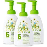 BabyGanics 甘尼克宝贝 婴儿洗发 + 沐浴二合一洗涤液,含洋甘菊马鞭草成分, 16 液体盎司(473ml)*3…