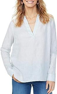 NYDJ 女式 * 亚麻套头衬衫