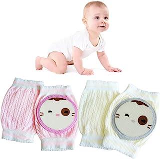 婴儿爬行护膝 - 男女通用爬行防滑膝盖幼儿学习步行*保护护膝(2 对)