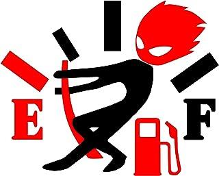 趣味汽车贴纸,高燃气消耗贴纸,愤怒的男孩调节燃油表,燃油量规空贴纸,适用于汽车、面包车、卡车、汽车贴花,男女皆宜