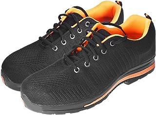 Safety Shoes 男式钢头钢底轻便舒适工业建筑运动鞋防滑鞋适合户外工作(鞋码 美码 9.5 = 英码 9 = 欧码 43 = 265mm)