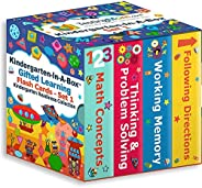 TestingMom.com 盒装幼儿园资优学习闪存卡套装(首套)-思维/问题解决,遵循指示,熟记能力,数学-CogAT,WPPSI和NNAT的资优人才测试准备