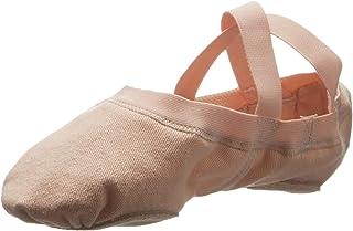 Bloch Dance 女式 Synchrony 分离式鞋底弹力帆布芭蕾舞鞋/鞋