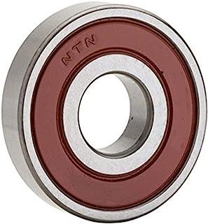 NTN 轴承 6205LB 单排深槽径向滚珠轴承,无接触,正常间隙,钢笼,25 毫米孔径,52 毫米外径,15 毫米宽,单密封