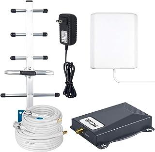 手机信号增强带 5 信号增强器 AT&T Cricket Verizon 手机增强器 ATT 手机增强器 适用于家庭 美国蜂窝 信道增强器 2G 3G 4G LTE 改善电话/数据 2000sqft FCC 认证
