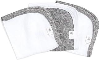Burt's Bees 婴儿-毛巾,吸水针织毛圈布,超柔软棉(Heather灰色,3件装)