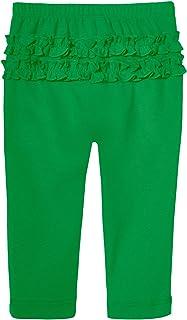 City Threads 女孩褶皱打底裤 * 纯棉及踝紧身裤 幼儿 - 美国制造