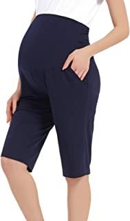 SWEETBUMP 孕妇睡衣七分裤休闲裤带口袋高腰睡衣柔软睡衣