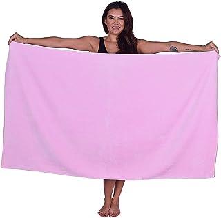 La Calla 土耳其海滩毛巾 - 超大 88.9 厘米 x 152.4 厘米浴巾 - * 绒布棉 - 多用途海滩沐浴和温泉浴 - 环保材料 浅粉色