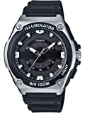 Casio 卡西欧 男式石英手表树脂表带,黑色,18(型号:MWC-100H-1AVCF)