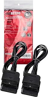 控制器延长电缆兼容有线的 PlayStation 2 PS2 [2 包] 6 英尺 - 由 EVORETRO 设计