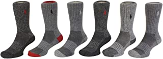 Polo Ralph Lauren 保罗拉夫劳伦 男童 Polo刺绣标志水手袜,6双