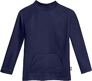 City Threads 男孩 SPF50+ 长袖口袋*服太阳游泳 T 恤 - 美国制造