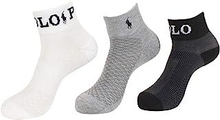 Ralph Lauren 女士 3 双装 Polo 运动短袜